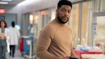 Jocko Sims on the set of New Amsterdam
