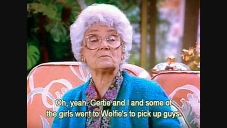 Estelle Getty as Sophia Petrillo on Golden girls