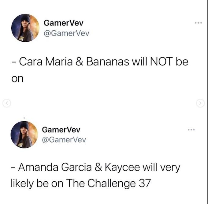 the challenge season 37 rumors for cast via IG post