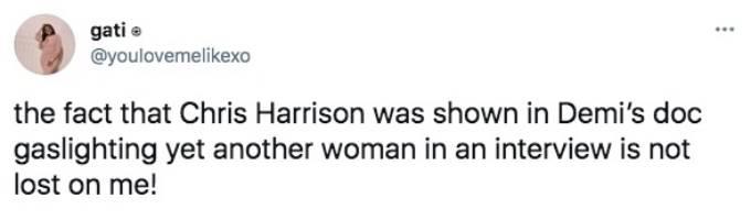 A fan tweets about Chris Harrison