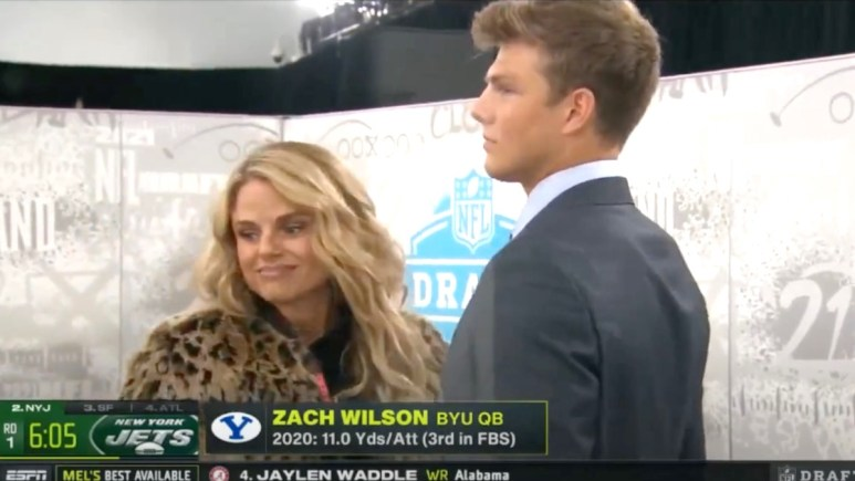 Zach Wilson and his mom