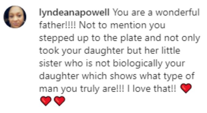 A fan praises Devoin's parenting