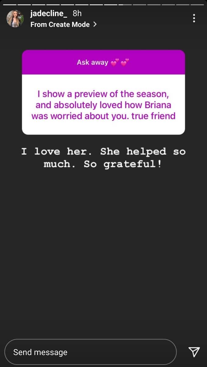 Jade Cline of Teen Mom 2 on Instagram