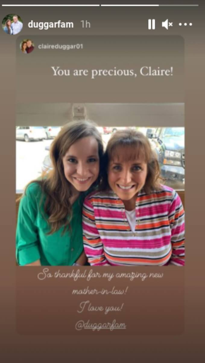 Claire Spivey's post for Michelle Duggar