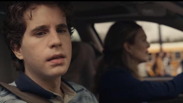 Screenshot of the Dear Evan Hansen trailer.
