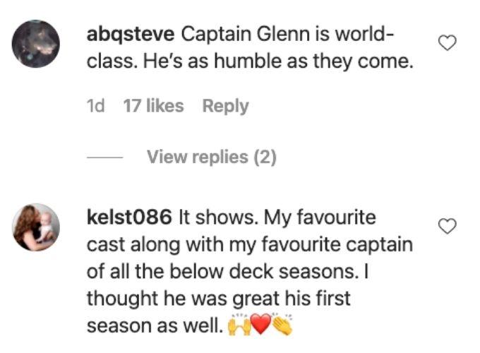 Fans adore captain Glenn.