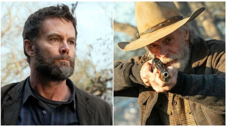 Garret Dillahunt as John Dorie Jr. and Keith Carradine as John Dorie Sr., as seen in AMC's Fear the Walking Dead