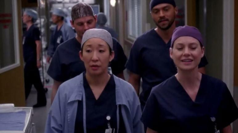 Grey's Cast Walking