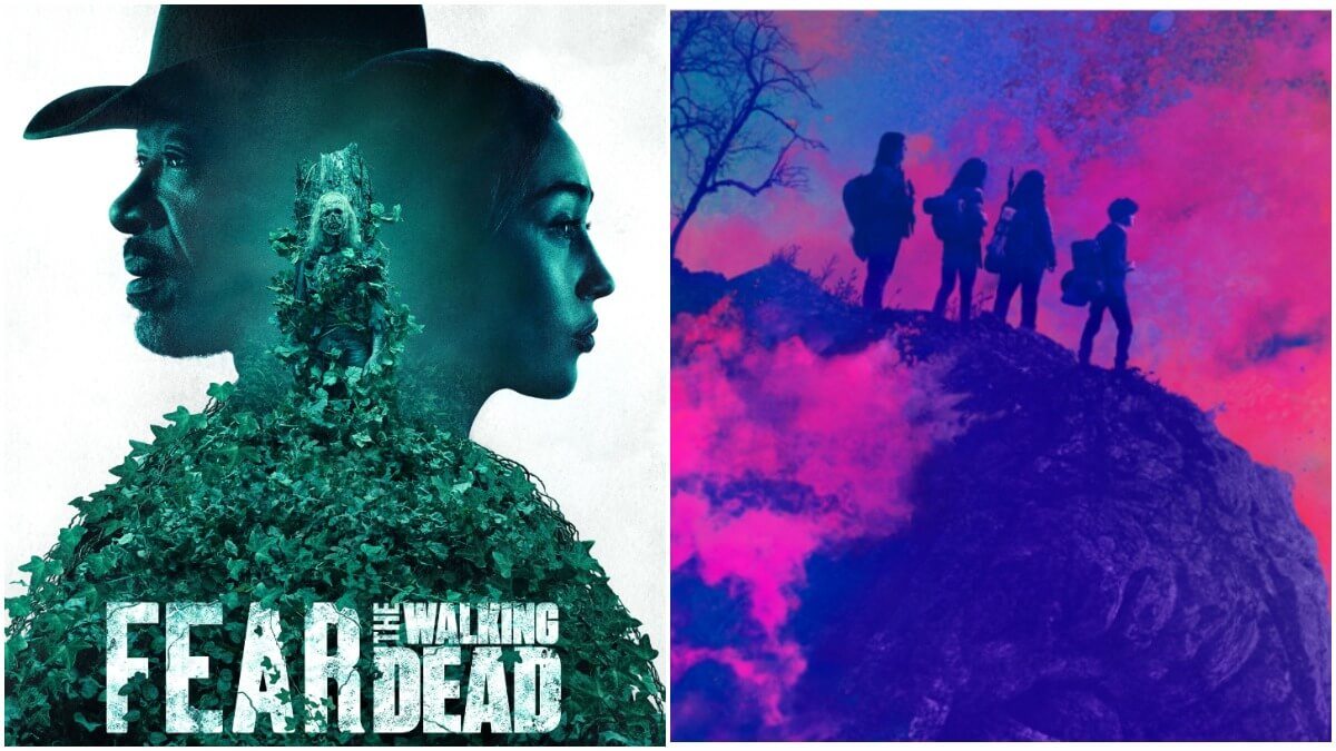 Key artwork for AMC's Fear the Walking Dead and The Walking Dead