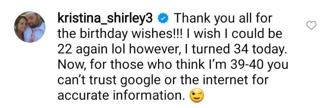 Gary and Kristina Shirley of Teen Mom OG on Instagram