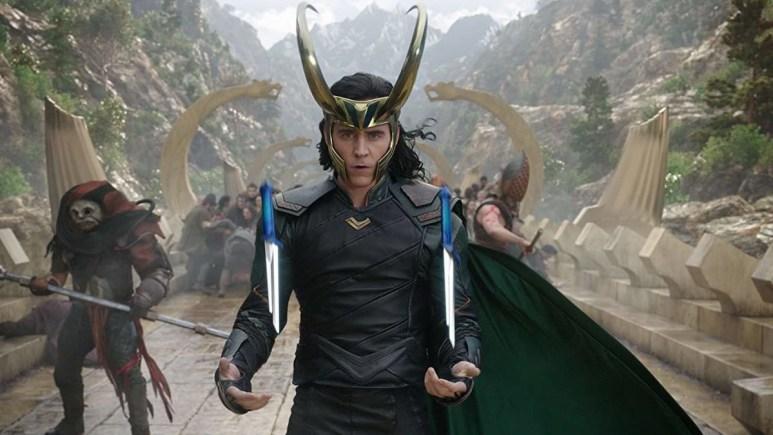 Loki in battle in Thor Ragnarok