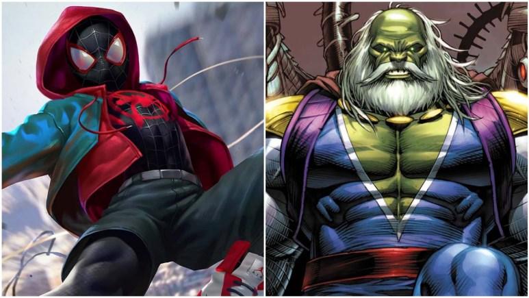 Miles Morales, Spider-Man and the evil Hulk, Maestro