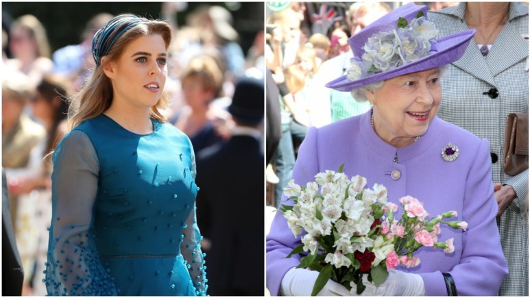 Princess Beatrice and Queen Elizabeth at royal events