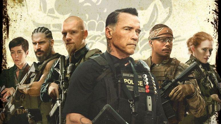 Movie poster of Sabotage.