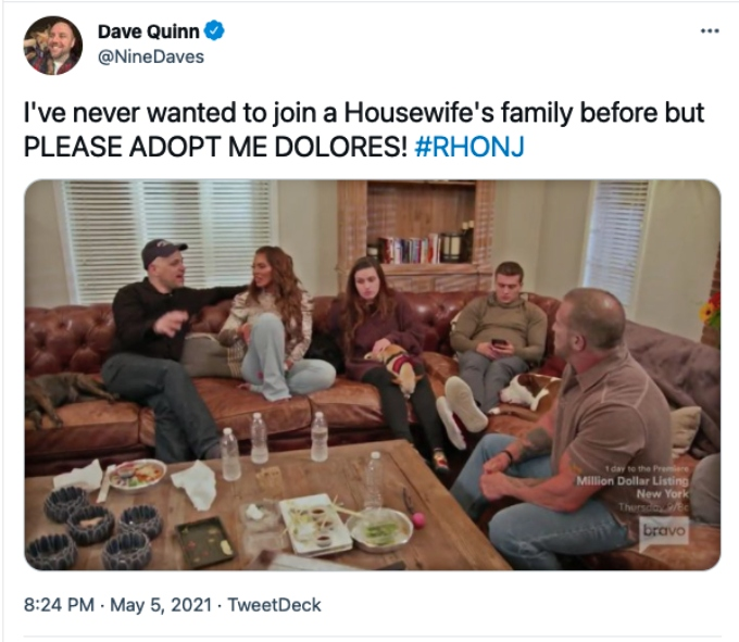 Twitter fans rave about Dolores' family