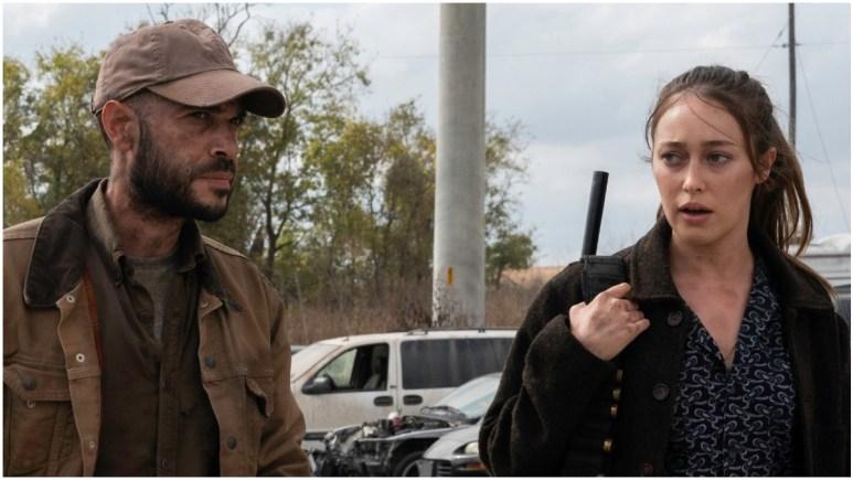 Sebastian Sozzi as Cole and Alycia Debnam-Carey as Alicia Clark, as seen in Episode 14 of AMC's Fear the Walking Dead Season 6