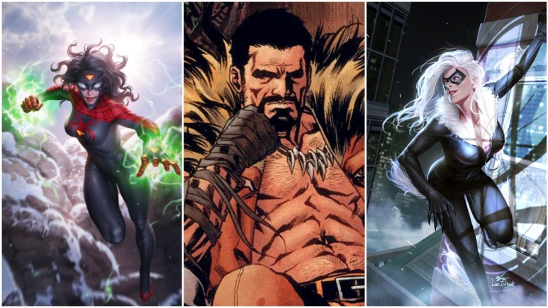 Spider-Woman, Kraven the Hunter, and Black Cat