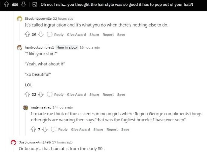 Reddit thread about Trish Youngquist