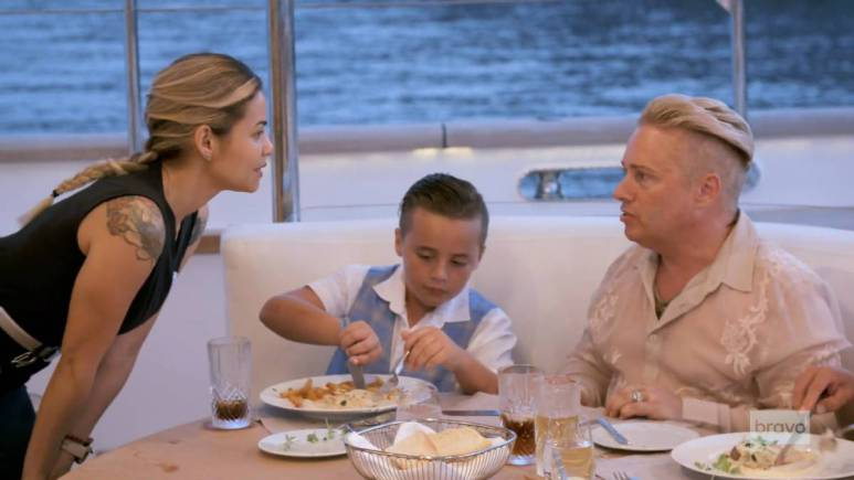 Dani and Barrie film for Below Deck