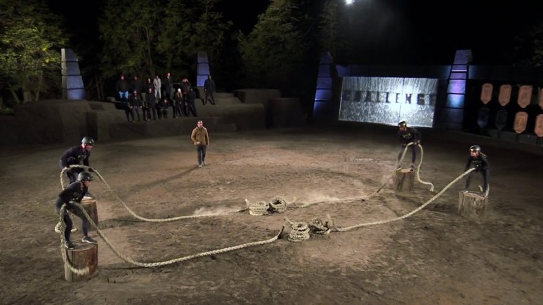 competitors in pull me over at the challenge all stars arena