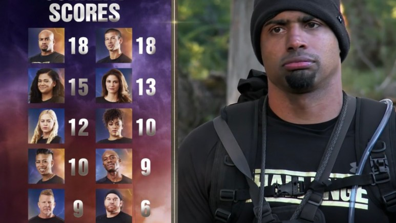 the challenge all stars scores after checkpoint 4 from episode 9