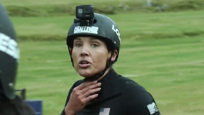 lolo jones during the challenge double agents all brawl event