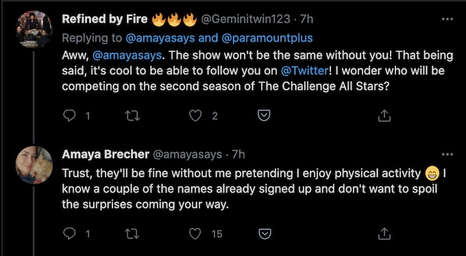 former real world star amaya brecher discusses all stars 2