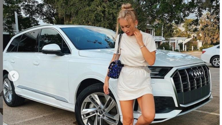 90 Day Fiance's Yara Zaya standing next to her new Audi.