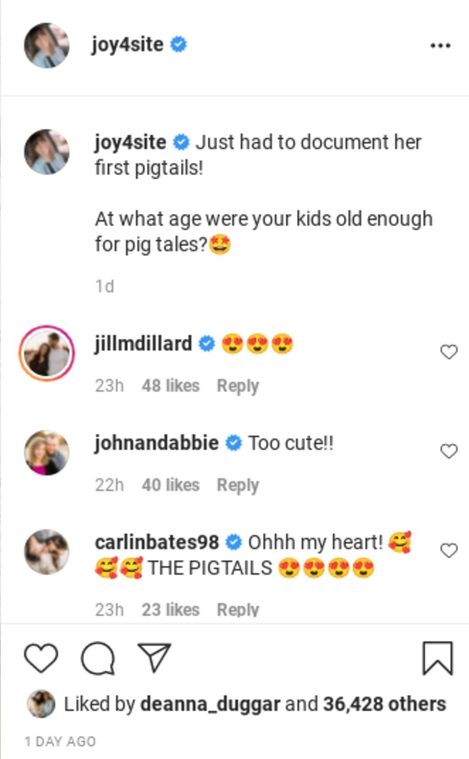 Jill and Abbie comment on Joy-Anna's post.
