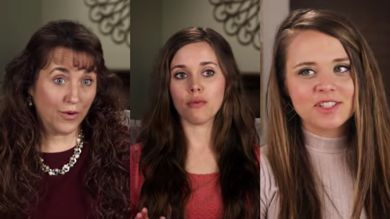 Michelle, Jessa, and Jinger Duggar in Counting On confessionals.
