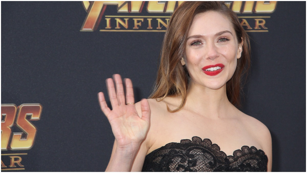 "Caption: Elizabeth Olsen 04/23/2018 The World Premiere of ""Avengers: Infinity War"" held at Hollywood, CA"
