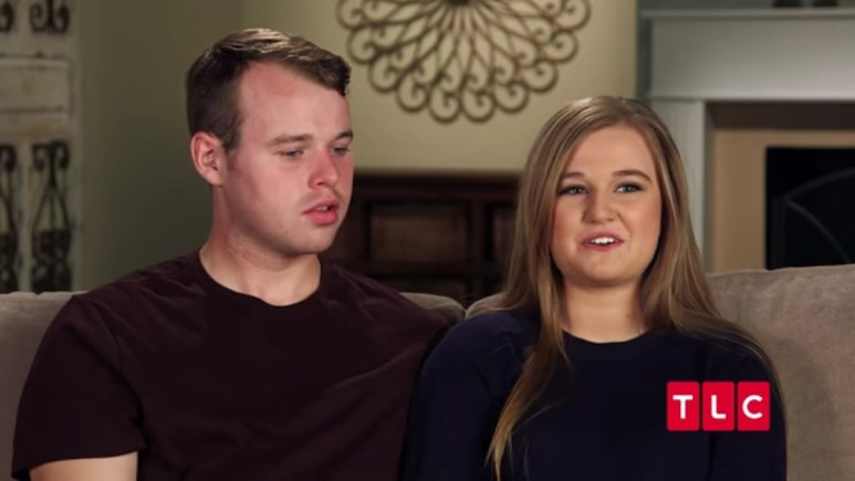 Joseph and Kendra in a Counting On confessional.