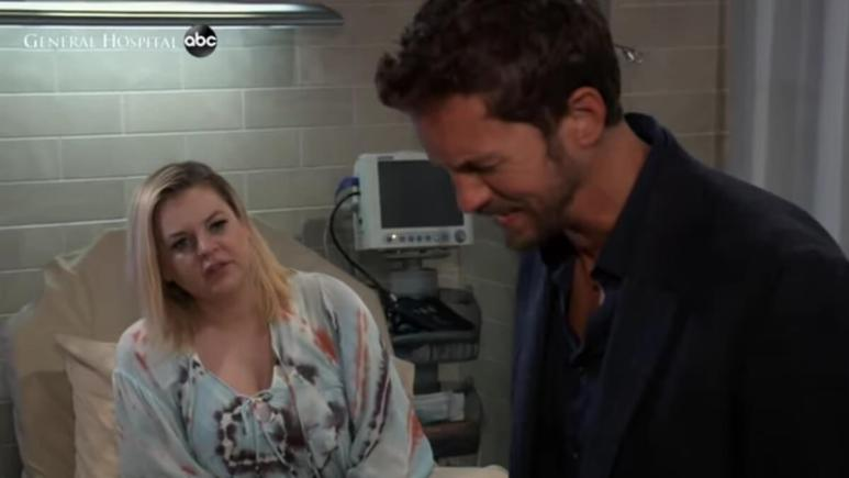 Kirsten Storms and Wes Ramsey as Maxie and Peter on General Hospital.