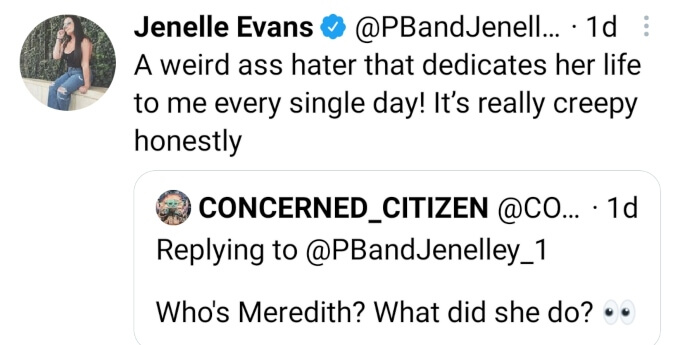 Jenelle Evans formerly of Teen Mom 2 on Twitter