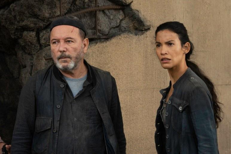 Ruben Blades as Daniel Salazar and Danay Garcia as Luciana, as seen in Episode 10 of AMC's Fear the Walking Dead Season 6