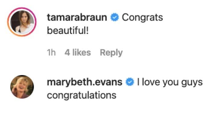 Tamara Braun and Mary Beth Evans congratulate Ari.