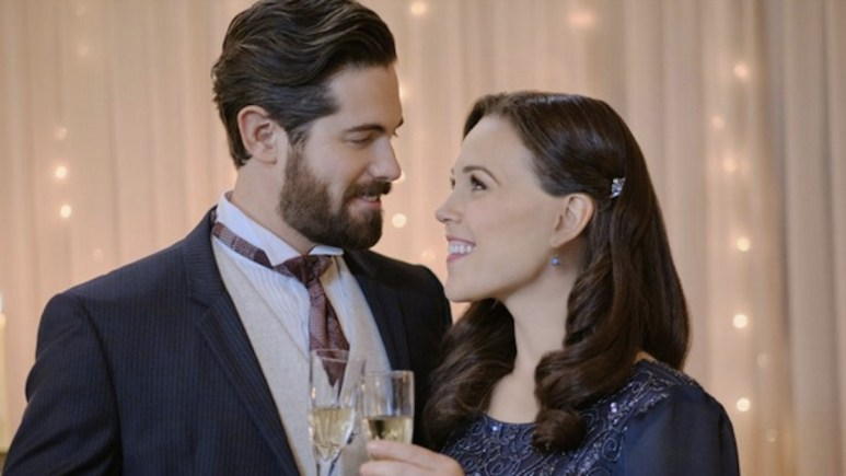 Elizabeth and Lucas celebrate the beginning of their courtship on Hallmark Channel's When Calls the Heart.