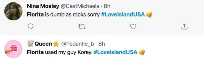 Fans love Korey on Love Island USA