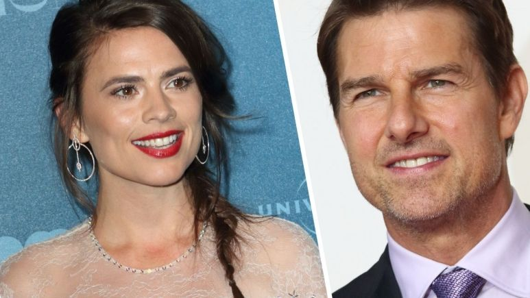 Image of Hayley Atwell and Tom Cruise
