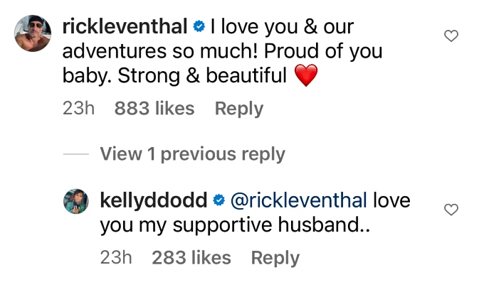Rick Leventhal supports wife Kelly Dodd