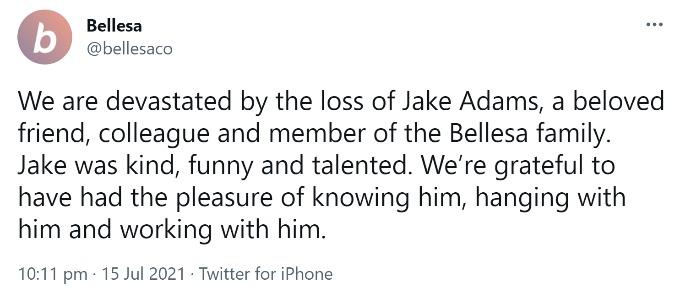 Tweet from Bellesa