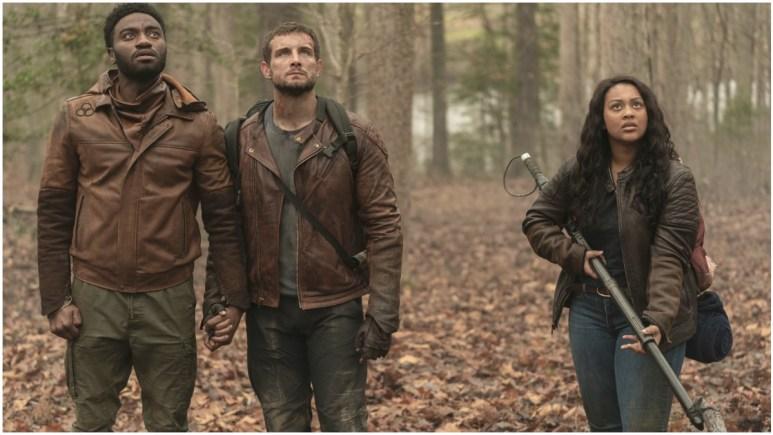 Jelani Alladin as Will, Nico Tortorella as Felix, Aliyah Royale as Iris, as seen in Episode 10 of AMC's The Walking Dead: World Beyond Season 1