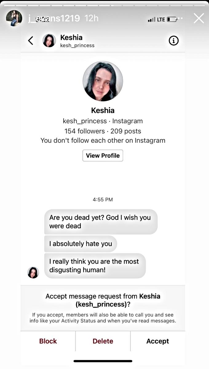 Jenelle Evans puts troll on blast