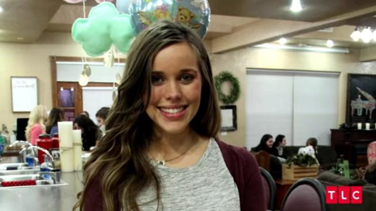 Jessa Duggar at her baby shower.