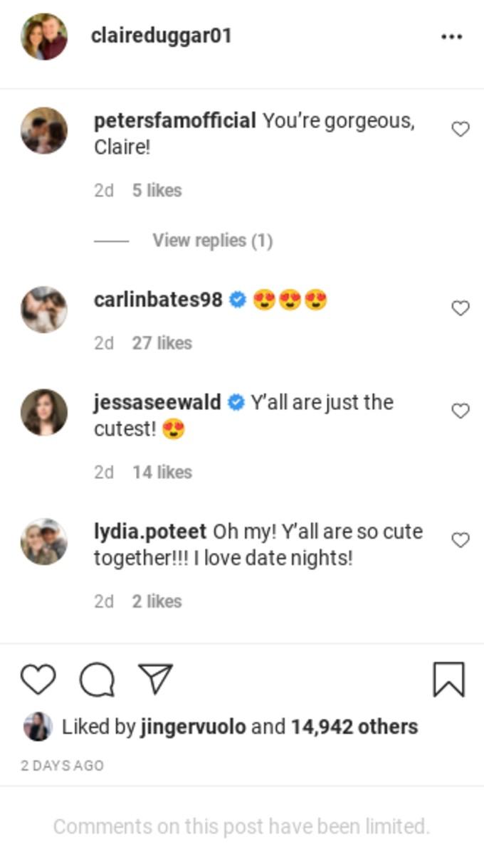Jessa's comment on Cliare's post.