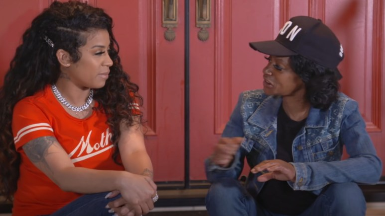 Keyshia Cole talks with her mother, Frankie Lons