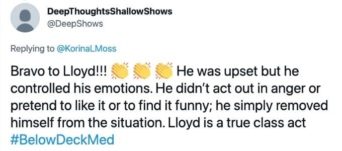 Below Deck Med viewers love Lloyd