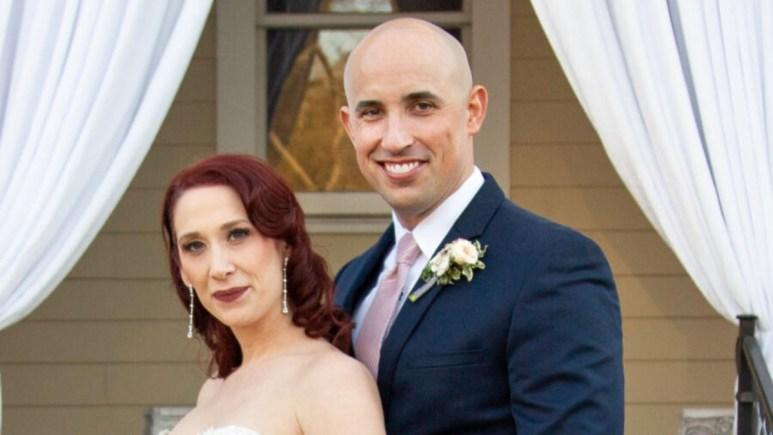 MAFS Beth and Jamie pose for wedding photos