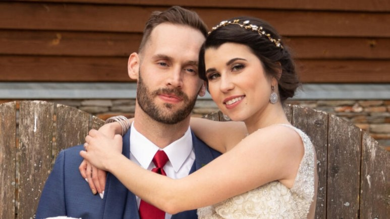 MAFS Season 9's Matt Gwynne and Amber Bowles pose for wedding pictures