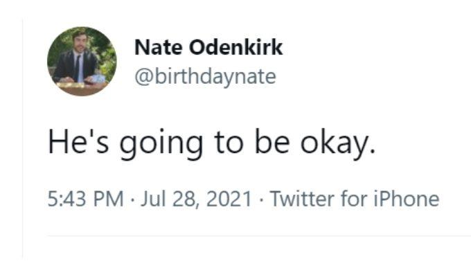 Tweet by Nate Odenkirk